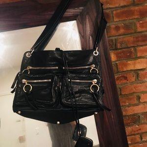 Chloe large  double zipper leather bag